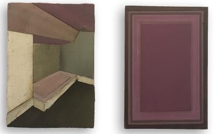 Untitled - 2018 (29 x 20 cm x2) Acrylic on multiplexwood.